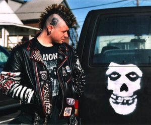 punk, misfits, and black and white image