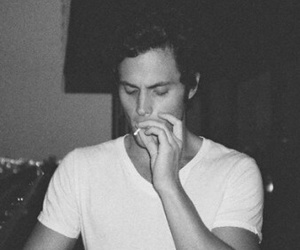 boy, Penn Badgley, and smoke image