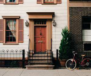 vintage, house, and bike image