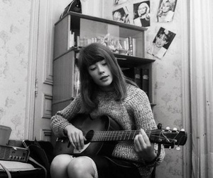 francoise hardy, 60s, and black and white image