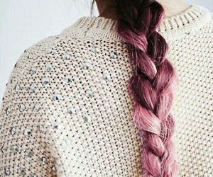 braids, pink, and goals image
