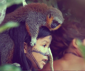 Amazon, heart, and indigenous image