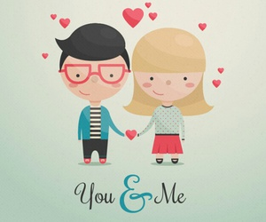 cut cartoon love kiss me image
