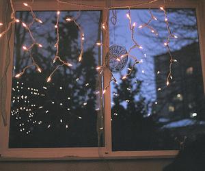 light, window, and night image