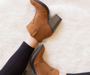 booties, brown shoes, and fashion image