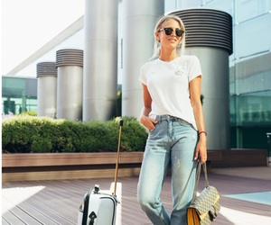 airport, fashion, and jeans image