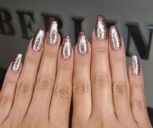nails, girl, and glitter image