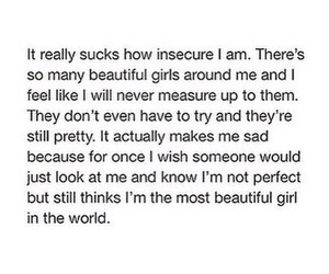 girl and insecure image