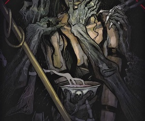 dark, witch, and death image