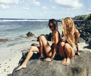 beach, best friends, and girls image