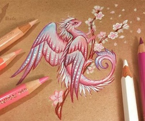 drawing, art, and dragon image