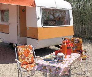 camping, Caravan, and retro image