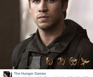 the hunger games, liam hemsworth, and mockingjay image