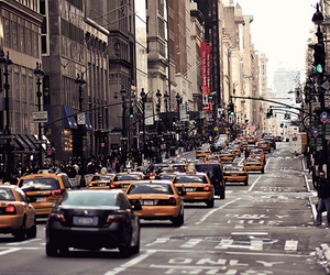 city, street, and new york image