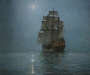 ship and painting image