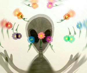 alien and flowers image