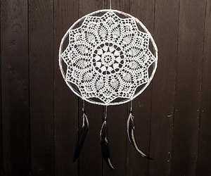 mandala, black and white, and dream catcher image