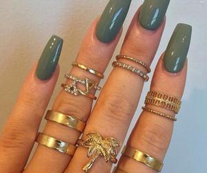 nails, rings, and green image