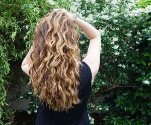 curls, curly hair, and balayage image