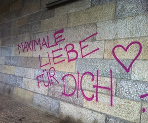 deutsch, graffiti, and liebe image