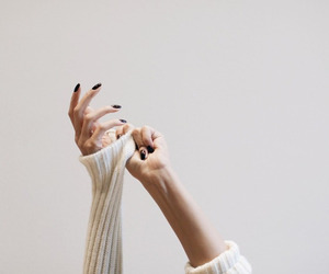 nails, hands, and white image
