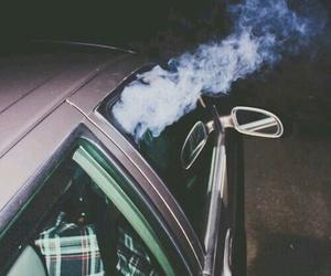 smoke, car, and grunge image