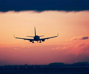 airplane, sky, and beautiful image
