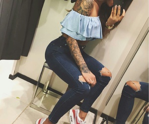 nike, outfit, and tattoo image