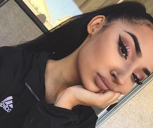 makeup, beauty, and adidas image