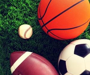 Basketball and football image