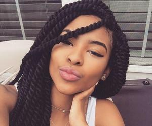 hair, beautiful, and braids image