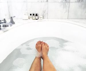 bath, home, and marble image