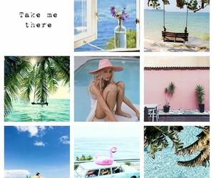 beach, swim, and girls image