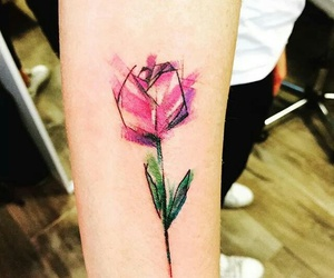 flower, tattoo, and tulip image