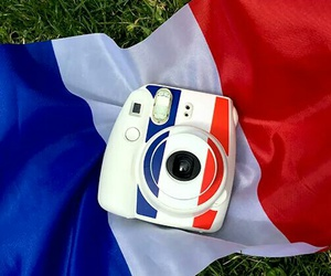 camera, france, and blue white red image