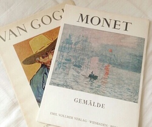 art, van gogh, and monet image