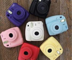camera, fujifilm, and polaroid image