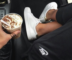 nike, coffee, and style image