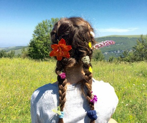 fashon, flowers, and hair image