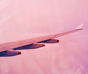 airplane and pink image