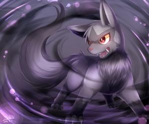 black, pokemon, and poochyena image
