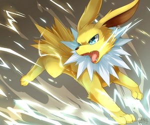 pokemon, yellow, and jolteon image
