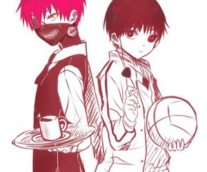 crossover, tokyo ghoul, and knb image