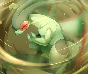 green, pokemon, and flygon image