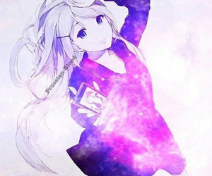 anime, girl, and galaxy image