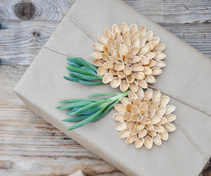 bow, diy, and flower image