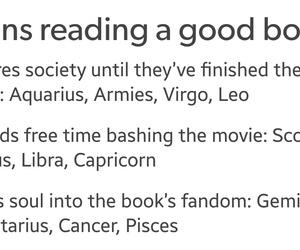 books, horoscopes, and zodiac signs image