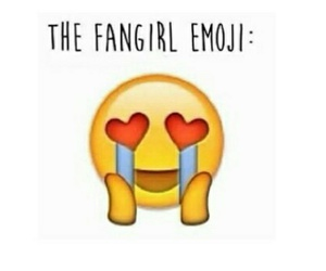 emoji, fangirl, and cry image