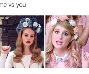 lana del rey, funny, and me vs you image