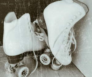 artistic, black and white, and skating image